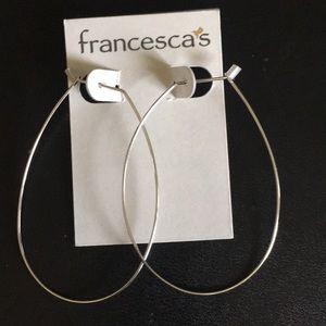 NWT silver wire hoop earrings